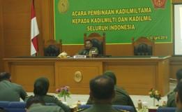 ACARA PEMBINAAN KADILMILTAMA KEPADA KADILMILTI DAN KADILMIL SELURUH INDONESIA