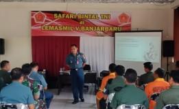 KEGIATAN SAFARI PEMBINAAN MENTAL TNI DI LEMASMIL V BANJARBARU