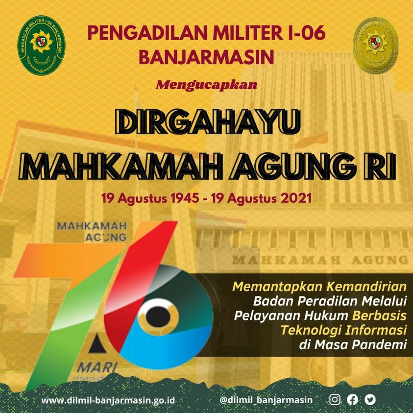 DIRGAHAYU MAHKAMAH AGUNG RI KE 76