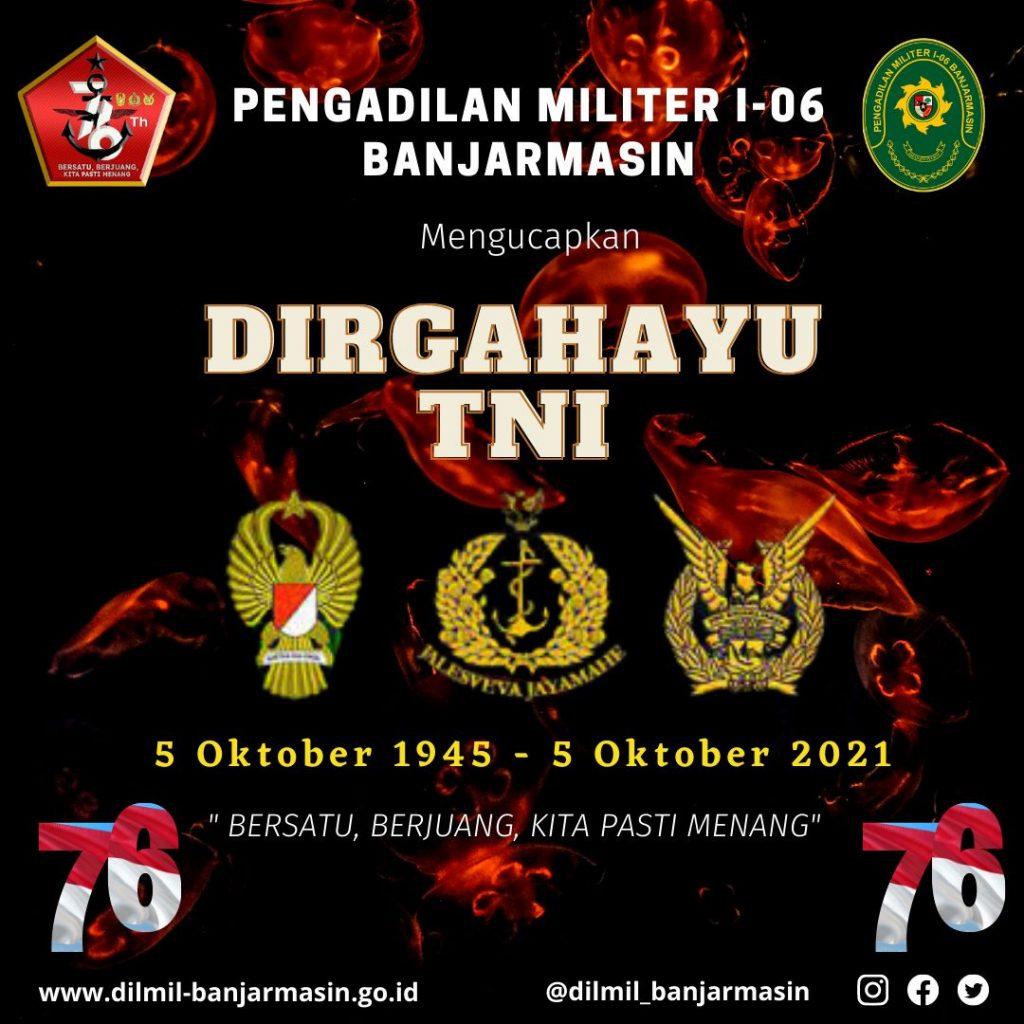 DIRGAHAYU KE 76 TENTARA NASIONAL INDONESIA