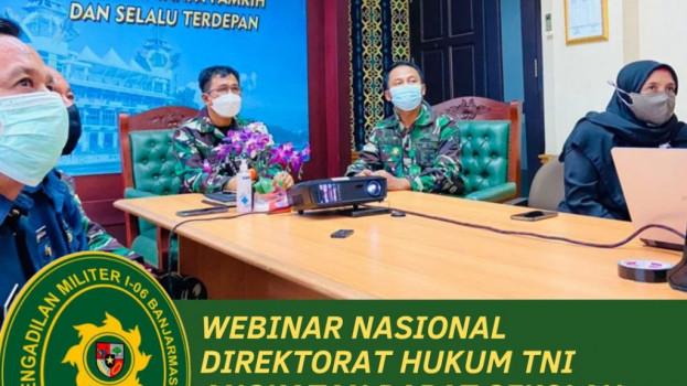 WEBINAR NASIONAL DITKUM TNI AD STHM